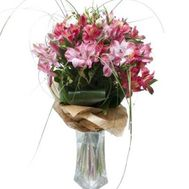 """Bouquet of 9 alstromeries"" in the online flower shop roza.od.ua"