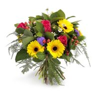 Bouquet of flowers from gerberas and roses - flowers and bouquets on roza.od.ua