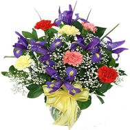 Bouquet of irises and carnations - flowers and bouquets on roza.od.ua