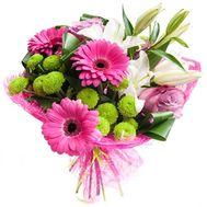 Букет квітів з лілії, гербер, хризантем - цветы и букеты на roza.od.ua