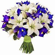 """Bouquet of lilies and irises"" in the online flower shop roza.od.ua"