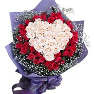 Букет в форме сердца - цветы и букеты на roza.od.ua