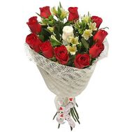 Bouquet of roses and alstroemerias - flowers and bouquets on roza.od.ua
