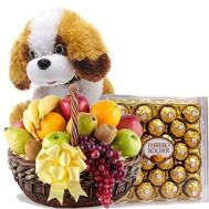 """Fruits, doggie, sweets"" in the online flower shop roza.od.ua"