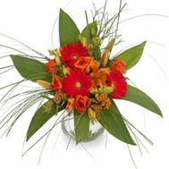 Bouquet of flowers of roses, gerberas and alstroemerias - flowers and bouquets on roza.od.ua