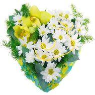 Композиция в форме сердца - цветы и букеты на roza.od.ua