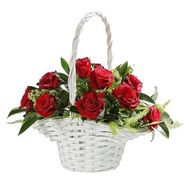 Basket of 11 roses - flowers and bouquets on roza.od.ua