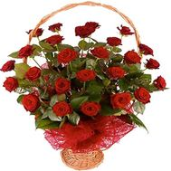 Basket of 25 roses - flowers and bouquets on roza.od.ua