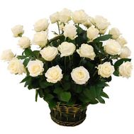 Basket of 29 white roses - flowers and bouquets on roza.od.ua