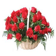 Basket of 35 roses - flowers and bouquets on roza.od.ua