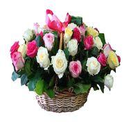 Корзина из 35 роз - цветы и букеты на roza.od.ua