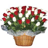 Basket of 55 roses - flowers and bouquets on roza.od.ua
