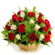 Basket of 41 roses - flowers and bouquets on roza.od.ua