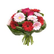 Bouquet of roses and gerberas - flowers and bouquets on roza.od.ua
