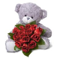 """Bear with roses"" in the online flower shop roza.od.ua"
