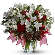 """Bouquet of flowers from alstroemerias"" in the online flower shop roza.od.ua"