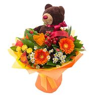 Teddy bear with bouquet - flowers and bouquets on roza.od.ua