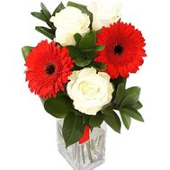 """Roses and gerberas in Odessa"" in the online flower shop roza.od.ua"