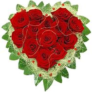 Heart of 13 roses - flowers and bouquets on roza.od.ua