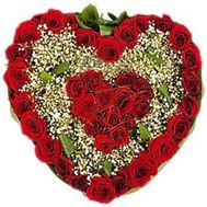 Сердце из 39 роз - цветы и букеты на roza.od.ua