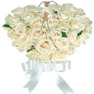 Heart of white roses - flowers and bouquets on roza.od.ua