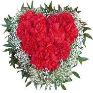 Сердце из гвоздик - цветы и букеты на roza.od.ua