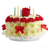 Cake of flowers - flowers and bouquets on roza.od.ua