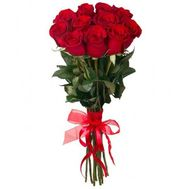 11 imported red roses - flowers and bouquets on roza.od.ua