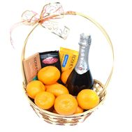 Champagne Basket Martini Asti - flowers and bouquets on roza.od.ua
