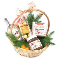 """Martini and sweets in a New Year's basket"" in the online flower shop roza.od.ua"