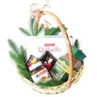 Christmas basket with coffee and sweets - flowers and bouquets on roza.od.ua