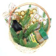 Новорічний подарунковий кошик з Baileys - цветы и букеты на roza.od.ua