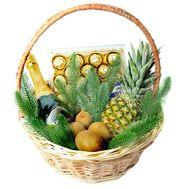 Подарунковий новорічний кошик з Asti Mondoro - цветы и букеты на roza.od.ua