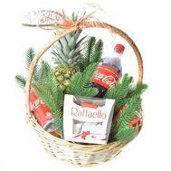 Кошик до Різдвяних свят - цветы и букеты на roza.od.ua