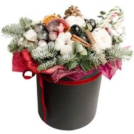 Christmas composition in a box - flowers and bouquets on roza.od.ua
