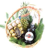 """Ferrero Rocher Christmas Gift Basket"" in the online flower shop roza.od.ua"