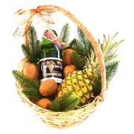 """Champagne and fruit Christmas basket"" in the online flower shop roza.od.ua"