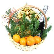 Рождественская подарочная корзинка с Asti Martini - цветы и букеты на roza.od.ua