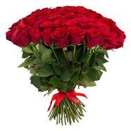 101 красная роза 50 см - цветы и букеты на roza.od.ua