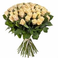 101 cream rose 70 cm - flowers and bouquets on roza.od.ua