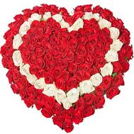 101 rose heart - flowers and bouquets on roza.od.ua