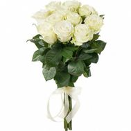 11 white roses - flowers and bouquets on roza.od.ua