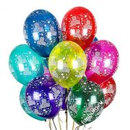 13 bright balls with helium - flowers and bouquets on roza.od.ua