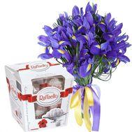 15 ирисов и Raffaello - цветы и букеты на roza.od.ua