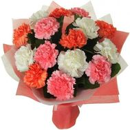 15 different colored carnations - flowers and bouquets on roza.od.ua