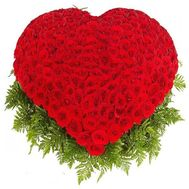 201 rose heart - flowers and bouquets on roza.od.ua