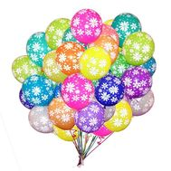 25 helium balloons with a pattern - flowers and bouquets on roza.od.ua