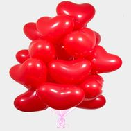 25 balloons in the shape of heart - flowers and bouquets on roza.od.ua