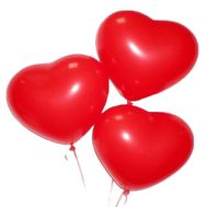 3 balloons in the shape of the heart - flowers and bouquets on roza.od.ua