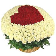 301 roses in the basket - flowers and bouquets on roza.od.ua